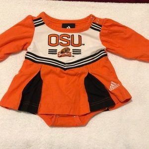 Adidas Oregon State University girls baby 3/6 mon